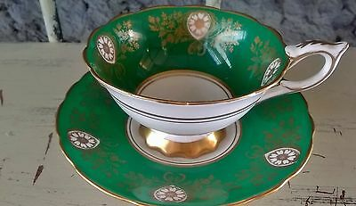 Pretty Wide Bowl Royal Stafford Fancy Tea Cup and Saucer Set