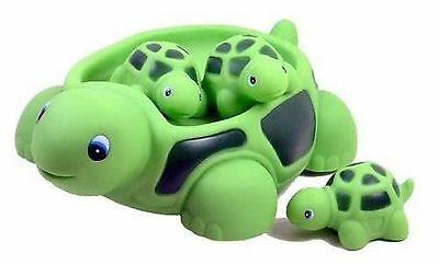 Playmaker Toys Rubber Turtle Family Bath Set Floating Bath Tub Toy (Set of 4)