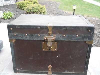 """antique chest trunk small 11"""" by 11"""" by 16"""""""