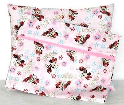 minnie mouse toddler pillow and pillowcase light pink cotton m24 3 new handmade - Toddler Pillow Case