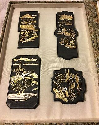 Antique? Oriental Booklet/Folder With Black Expensive Sumi Ink Sticks