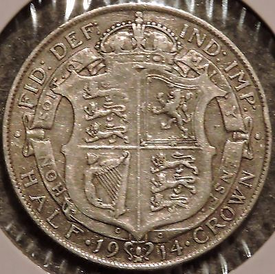 British Silver Half Crown - 1914 - King George V - $1 Unlimited Shipping