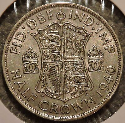 British Silver Half Crown - 1940 - King George VI - $1 Unlimited Shipping