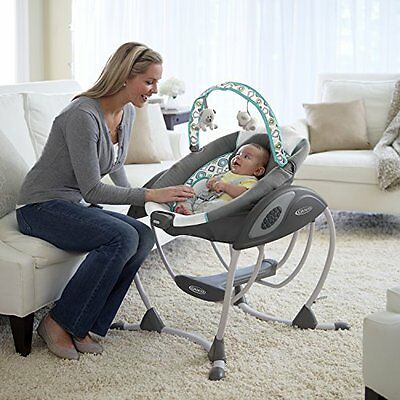 Baby Swing For Infants Portable Plug In With Music Toddler Cradle Bassinets