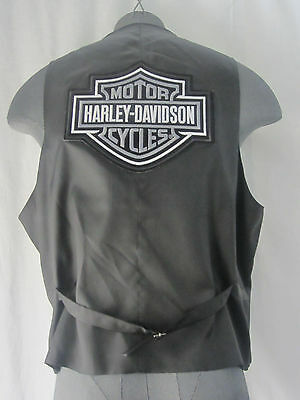 Stafford Harley Davidson Vest Sleeveless Classic Fit Dress Suit Vest Size XL