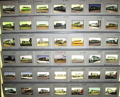 Vintage Lot of 50 1970's era Burlington Northern Original Color Slides #5