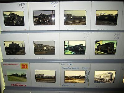 Vintage Lot of 50 1970's era Penn Central Original Color Slides #1