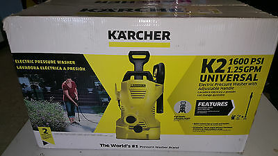 K'a'rcher K2 1,600 PSI 1.25 GPM Electric Pressure Washer 1.602-314.0 New In Box