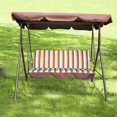 Outdoor Canopy Swing 3 Person Glider Hammock Patio Furniture Backyard Porch Seat