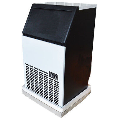 Cool Commercial ICE MAKER  MACHINE 110V Restaurant 150lbs Wooden English Panel