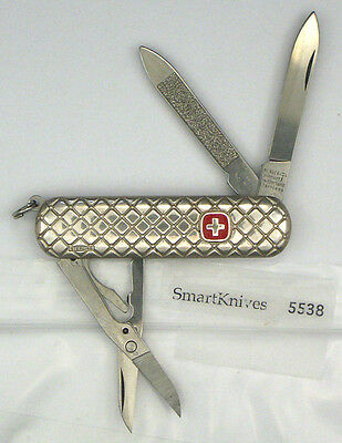 Wenger Quilted sterling silver Swiss Army knife- vintage, new in box #5538