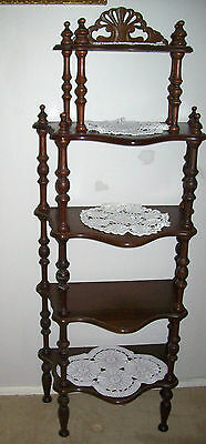 Lovely Vintage Retro Five Tier Wooden What Not Display Stand - Deceased Estate