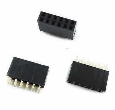 Active Components Electronic Components & Supplies 2019 New Style 6pcs 2x6 12 Pin 2.54mm Double Row Female Straight Header Pitch Socket Pin Strip