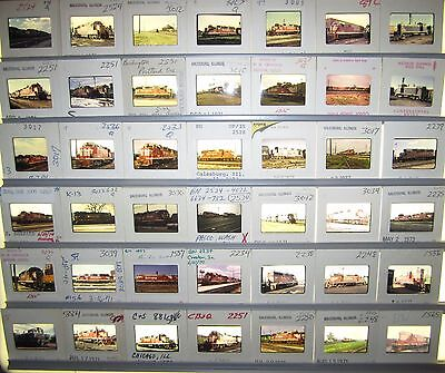Vintage Lot of 50 1970's era Burlington Route Original Color Slides