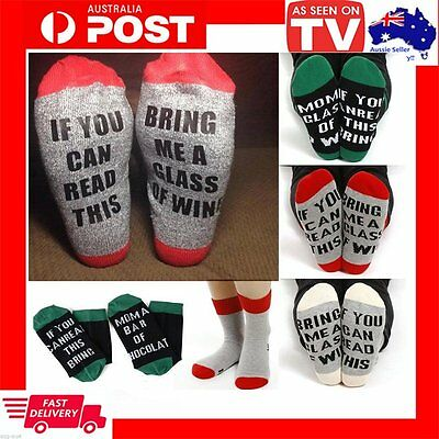 If You Can Read This Bring Me A Glass Of Wine Fashion Women Men Socks Novelty BB