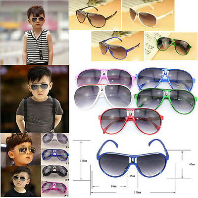 Child NICE Children Boys Girls Kids Plastic Frame Sunglasses Goggles Eyewear BU