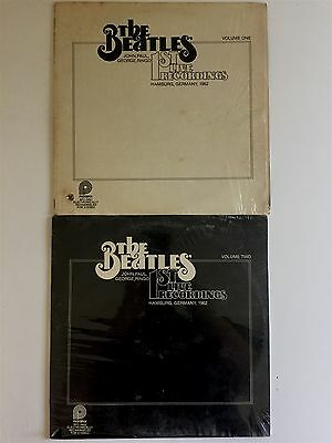 BEATLES 1st Live Recordings Volume One & Two SEALED & NM In Shrink