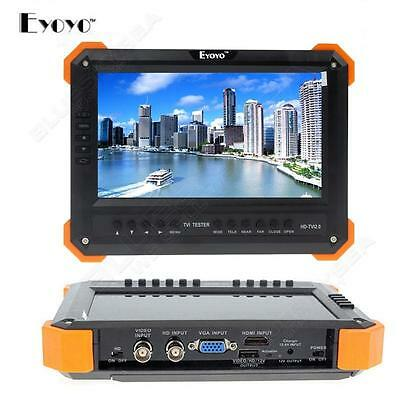 "EYOYO X41TA LCD 7""Monitor HD-TVI+AHD+HDMI+VGA+CVBS Camera Test Video CCTV Tester"