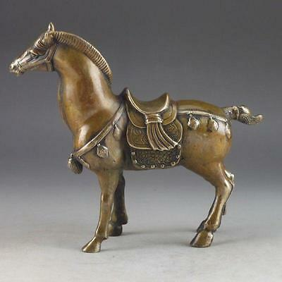 Collectible Decorate Chinese Copper Handwork Carved Horse Statue