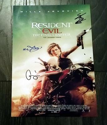 """Resident Evil 6 - Final Chapter Pp Signed 12""""x8"""" A4 Photo Poster Milla Jovovich"""