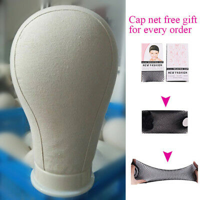 Best Canvas Block Head For Wig Making Water Repellant Hair Mannequin Model Head