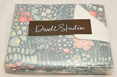 STROLLER BLANKET Dwell Studio WOODLAND TUMBLE  30x40 Inch Green White and Pink
