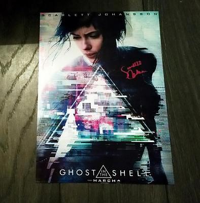 "Ghost In The Shell Cast Pp Signed 12""x8"" A4 Photo Poster Scarlett Johannson"