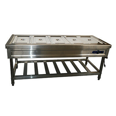 5-Pan Full Size Hot Well Bain-Marie Buffet STEAM TABLE FOOD WARMER
