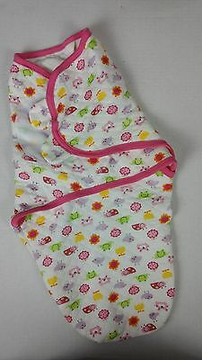 Cotton Small Medium 7 - 14 Lbs Pink Swaddle Blanket with Velcro Closure Girls S