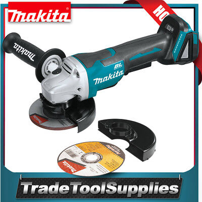 "Makita Brushless Angle Grinder 18V LXT® Cordless Li‑Ion 4½"" Paddle Switch XAG06Z"