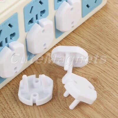 EU Wall Plug Socket Safty Covers Caps Anti Electric Baby Child Protection 10PCS