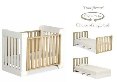 Cot Convertable Crib Boori Transformer Omni Amazing it changes to Single Bed WOW
