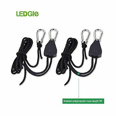 "Ledgle 1/8"" Grow Light Ratchet Rope Hanger Adjustable Heavy Duty 1 Pack"