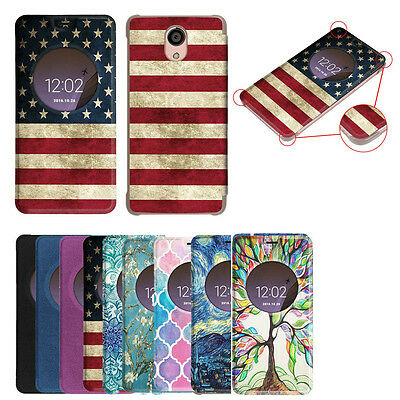 online store 3d9dc 713f1 FOR BLU LIFE ONE X2 Smartphone Quick View Window Case Cover Slim Flip  Protective