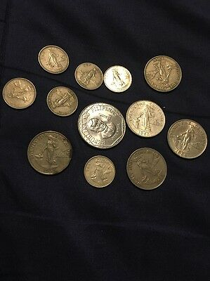 Lot Of 12 Mixed (Sentimos Coins From The Philippines