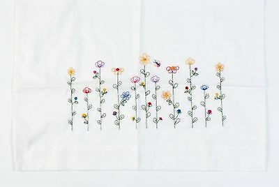 Bucilla Stamped Embroidery Pillow Case Pair, 20 by 30-Inch, 65431 Tall Flowers