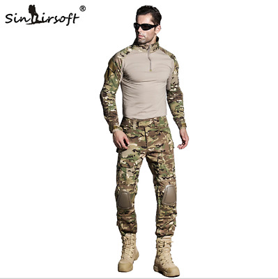 Tactical Military Combat Uniform Shirt & Pants G3 Airsoft GEN3 Camo MultiCam BDU