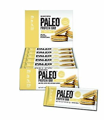 Paleo Protein Bar? 20g Egg White Protein 7 Net Carbs) (Vanilla Cookie) 12 Bar...