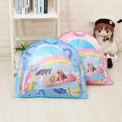 Baby Bed Folding Mosquito Net Cushion Mattress Baby Infants Polyester Mesh Crib