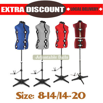 Adjustable Female Mannequin Model Display Dial/Tailor/Dressmaker Size 8-14/14-20
