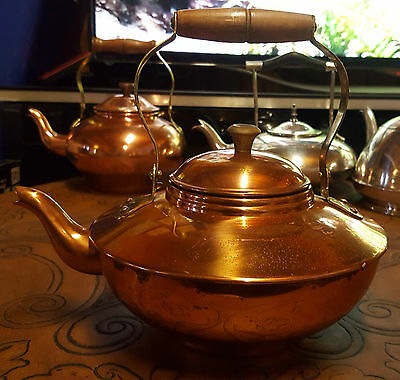 "Vintage Large  Beautiful ""Copper Tea/coffee Pot"" Made In Portugal"