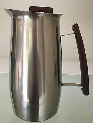 Vintage Swedish Germetco Stainless Steel & Rosewood Coffee Pot By Arthur Salm