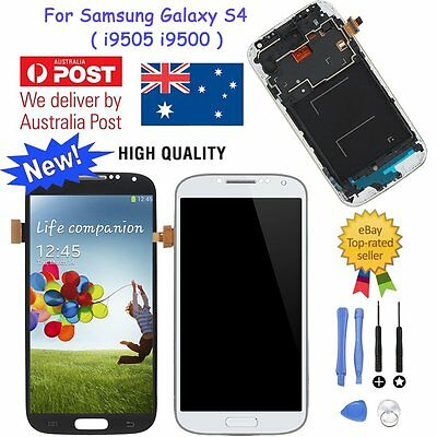 LCD Display Touch Screen Assembly Digitizer For Samsung Galaxy S4 i9505 i9500 AU