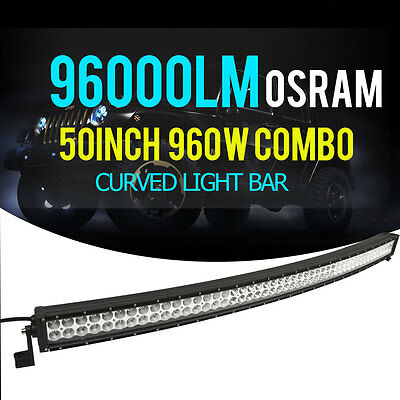 """PHILIPS 50INCH 672W Combo Curved LED 4WD Light Bar Offoard Driving Truck SUV 52"""""""