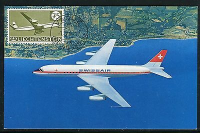 Liechtenstein - Carte Maximum 1963, Avion