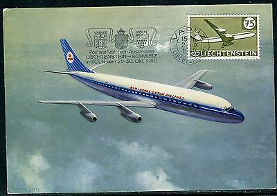 Liechtenstein - Carte Maximum 1960, Avion