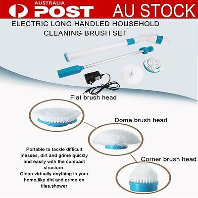 Household Turbo Scrubber Cleaning Brush Mop Bathtub Tiles Floor Cleaner New BU
