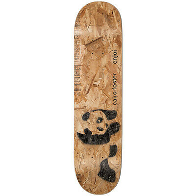 ENJOI NEW Mens Brown Foster Premium Panda Slick Skateboard Deck 8.0 BNWT