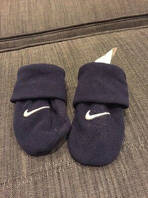 Infant Nike Navy Blue Hand Mittens