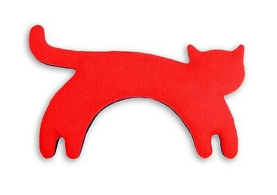 Red Minina Cat Unscented Anti-allergenic Cosy Fleece Heatable Neck Warmer Pillow